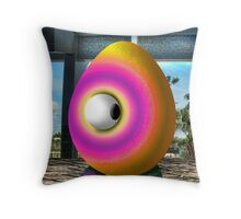 Saturated Egg Man Looking the other Way Throw Pillow