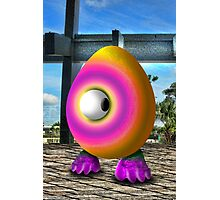 Saturated Egg Man Looking the other Way Photographic Print