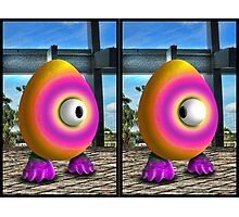 Saturated Egg Man Combined Photographic Print