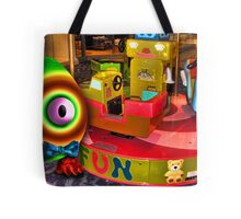 Saturated Egg Man at the Mall Tote Bag