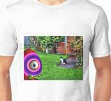 Saturated Egg Man getting Judged by the Neighborhood Cat Unisex T-Shirt
