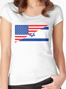 usa israel Women's Fitted Scoop T-Shirt