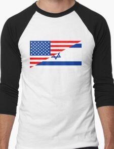 usa israel Men's Baseball ¾ T-Shirt