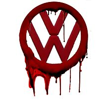 VW Blood drip Photographic Print