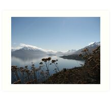 On the road to Glenorchy NZ Art Print