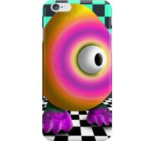 Saturated Egg Man on the Chess Board iPhone Case/Skin