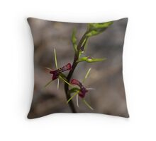 "Small Tongue Orchid ""Cryptostylis leptochila"" #2 Throw Pillow"