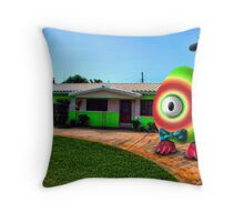 Saturated Egg Man Proud of the Lime House Throw Pillow