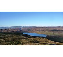 View of Loch Ordie and the mountains Photographic Print