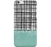 Mila - Grid and mint - paint, art, artist cell phone case, grid phone case iPhone Case/Skin