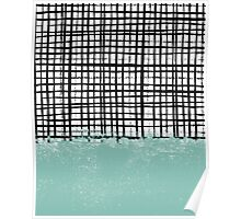 Mila - Grid and mint - paint, art, artist cell phone case, grid phone case Poster