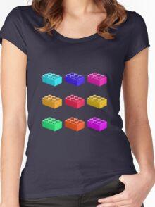 Warhol Toy Bricks Women's Fitted Scoop T-Shirt