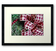 The Christmas Wreath Framed Print