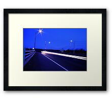 HighWay Light Night Run Framed Print