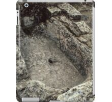 Stone tub in Kitchen Ruins of abbey Rievaulx North Yorkshire England 198406020067 iPad Case/Skin