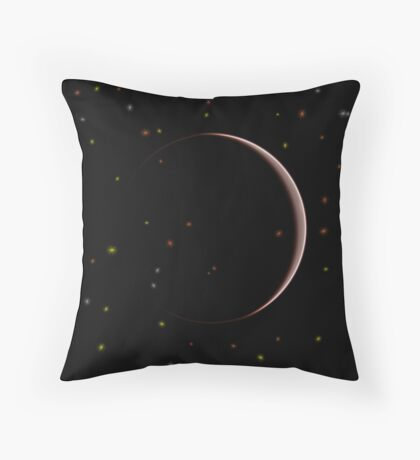 Arc in Space Throw Pillow
