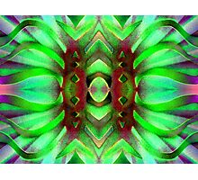 Neon Green Solarized Ribbons Photographic Print