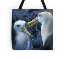Albatros Pair on Galapagos Tote Bag