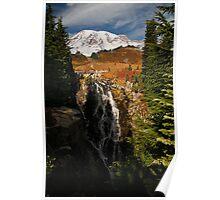 Mt Rainier at Autumn Poster