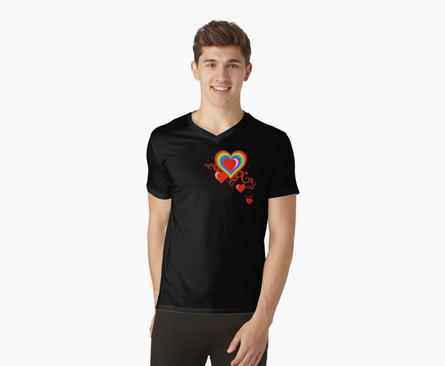 squiggle rainbow hearts by chromatosis