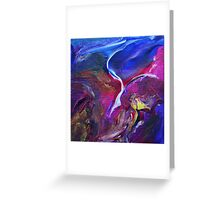 """Flyaway"" original abstract artwork Greeting Card"