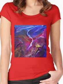 """Flyaway"" original abstract artwork Women's Fitted Scoop T-Shirt"