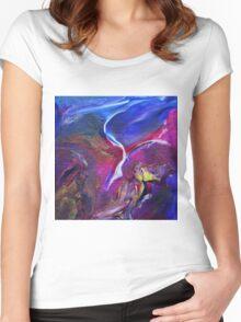 """Flyaway"" original abstract artwork Women's Fitted Scoop T-Shirt"