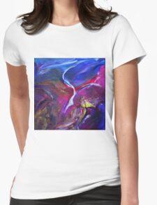 """""""Flyaway"""" original abstract artwork Womens Fitted T-Shirt"""