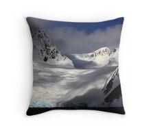 Glacial Valley, Antarctic Peninsula Throw Pillow