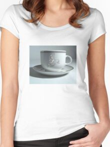 Cyclist's Coffee Cup Women's Fitted Scoop T-Shirt