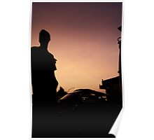 sunset and cars  Poster