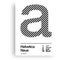 a .... Helvetica Neue (b) Canvas Print