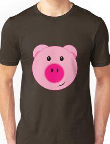 Cute Pink Pig Face Unisex T-Shirt