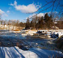 An Icy Creek on a Snowy Farm by MarkEmmerson
