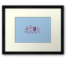 Solo drink with friends Framed Print