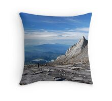 Mt. Kinabalu South Peak Throw Pillow