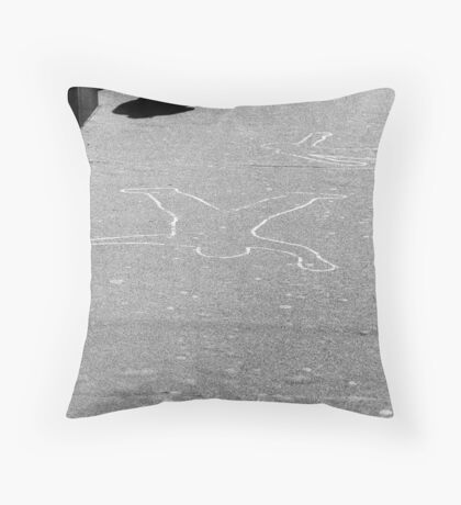 The Cement Angel Throw Pillow