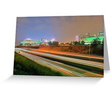 Carolina Panthers Football Stadium Greeting Card