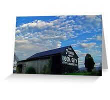 Rock City, Tennessee, barn  Greeting Card