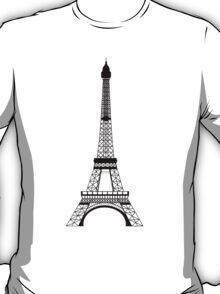 Black Eiffel Tower T-Shirt