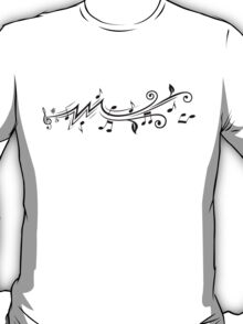 Music design with musical notes T-Shirt