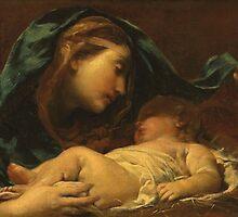 Madonna And Child by Bridgeman Art Library