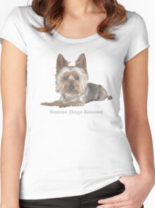 Silkie Senior for dark backgrounds Women's Fitted Scoop T-Shirt