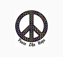 Peace, Life, Hope. Cancer Ribbons Unisex T-Shirt