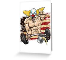 Cross fitness - Puker - USA Greeting Card