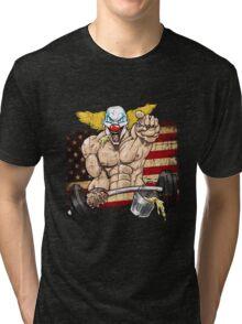 Cross fitness - Puker - USA Tri-blend T-Shirt