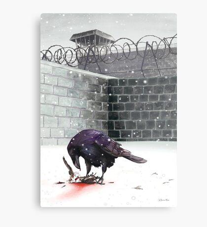 Crow, Bloody Snow Metal Print