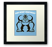 Heavy Weight Championship Framed Print