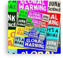 Global Warming Hoax Canvas Print