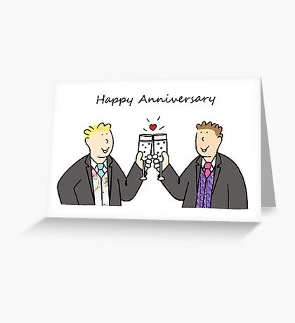 Gay male Happy Anniversary Greeting Card